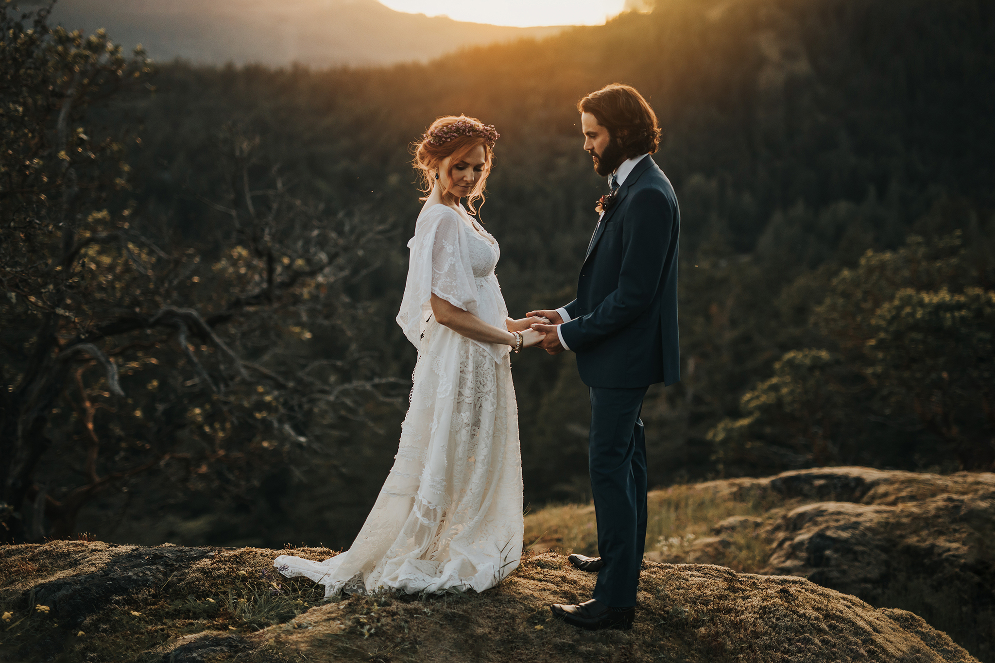Myrtle and Moss Photography, Styled Mountaintop Elopement, Victoria BC Wedding Photographer, Lone Tree Hill