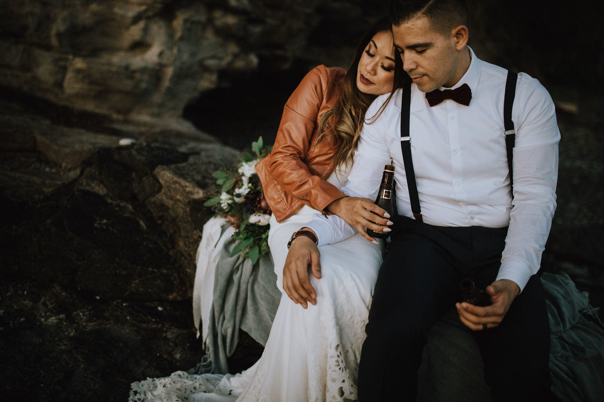 Myrtle and Moss Photography, Ang McCabe, Victoria Wedding Photographer, Dustin + Jaclyn Sombrio Beach Elopement