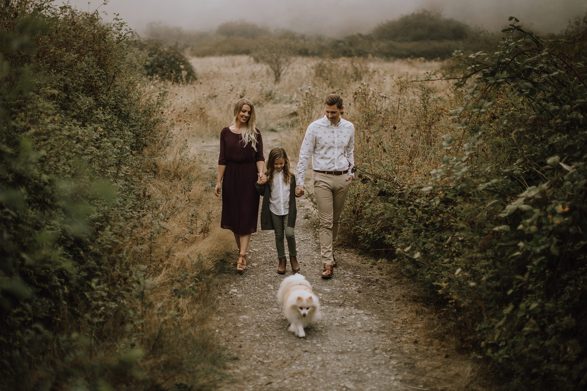 Foggy Family Session in Victoria BC, Myrtle and Moss Photography Vancouver Island Family Photographer
